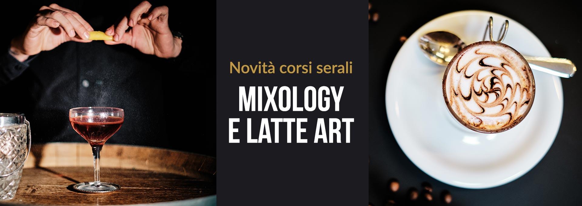Novità corsi serali - Latte Art e Mixology