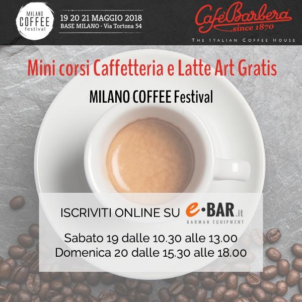 minicorsi caffetteria gratis
